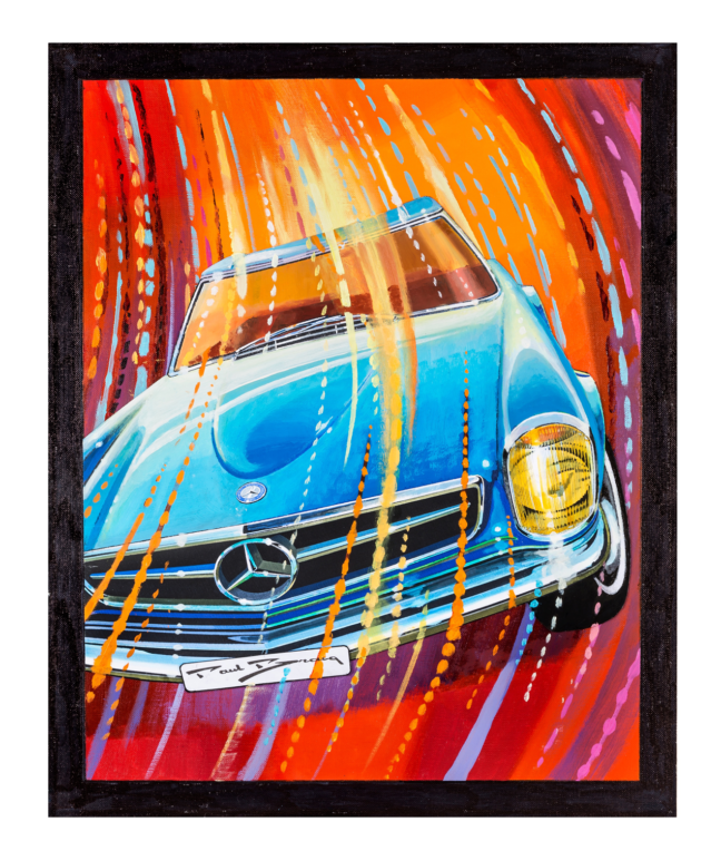 "The ""Pagoda"" – hand signed art print by legendary automotive designer Paul Bracq"