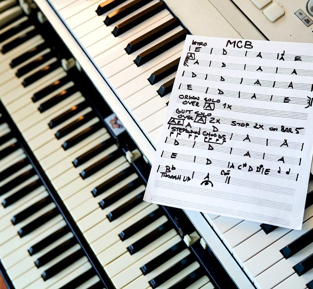 MCB Hammond B3 Orgel & Notenblatt